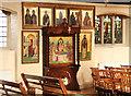 TQ2876 : St Bartholomew, (now St Nectarios), Battersea - Icons by John Salmon