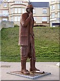 TA1280 : Fisherman's statue feature on the Promenade, Filey by Terry Robinson