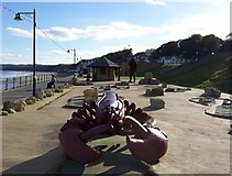 TA1280 : Lobster on the Promenade, Filey - 2 by Terry Robinson