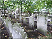 TQ3282 : Gravestones, Bunhill Fields by kim traynor