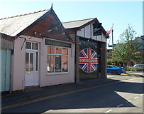 SO4382 : The Pilgrim Centre and Signs, Craven Arms by Jaggery