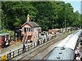 SO7483 : Severn Valley Railway - Highley signalbox by Chris Allen