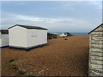 TR3751 : Huts on the Beach at Lower Walmer by Chris Heaton