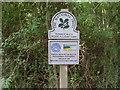 TM4669 : National Trust Sign near Dunwich Heath by David Hillas