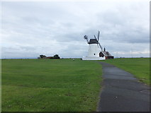 SD3727 : Path to Lytham Windmill by Barbara Carr