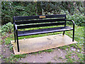 TM3863 : Seat at the footpath junction by Adrian Cable