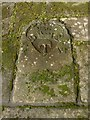 NS4863 : Old gravestone by Lairich Rig