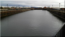 ST1974 : Watery view along the Graving Docks by Jaggery