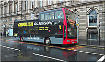 NS5965 : Ghoulish Glasgow tour bus by Thomas Nugent