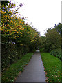 TM3863 : Footpath to Tennyson Road by Adrian Cable