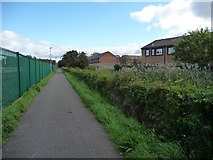 SD4364 : Lancashire Coastal Way near Morecambe station by Christine Johnstone