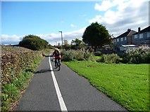 SD4364 : Cycling on the Lancashire Coastal Way by Christine Johnstone
