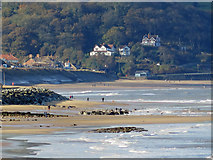 NZ8612 : Sandsend from Whitby's East Pier by Pauline E