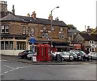 SK2168 : Two red phoneboxes in Bakewell by Jaggery