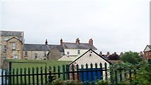J4792 : The rear of houses in Adelaide Avenue, Whitehead by Eric Jones