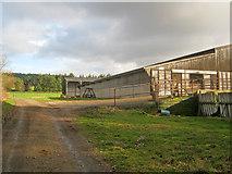 SK2671 : Barns near Parkgate by Trevor Rickard