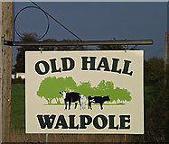 TM3674 : Old Hall sign at the entrance to Old Hall by Adrian Cable