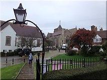 TQ9220 : Looking towards the church... by John H Darch