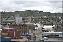 NS2776 : View over Greenock from P&O's Adonia, docked at the Ocean Terminal - 1 by Terry Robinson