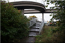 TA0827 : The footbridge over the A63, Clive Sullivan Way by Ian S