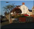 SH4863 : A reminder of Carnarvon Cottage Hospital, Caernarfon by Jaggery