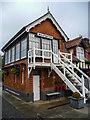 TF6528 : Signal Box, Wolferton Station, Norfolk by Christine Matthews