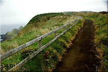 C9444 : Antrim Coast - Footpath along Cliff Edge northeast of Visitor Centre by Joseph Mischyshyn
