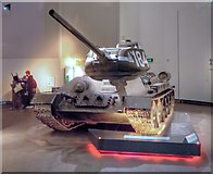 SJ8097 : Imperial War Museum North, T34 Russian Tank by David Dixon