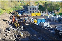 NT3461 : Construction work on the Borders Railway, Gorebridge Station by Jim Barton