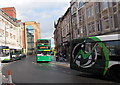 ST3188 : New bus termini in High Street Newport by Jaggery