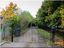 TR1658 : Gated Entrance to Old Park Farm by Chris Heaton