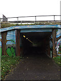 TM1244 : Footpath & subway at Sproughton by Geographer