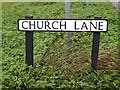 TM1343 : Church Lane sign by Adrian Cable