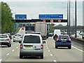 TQ0364 : M25, Junction 11 (Addlestone Junction) by David Dixon