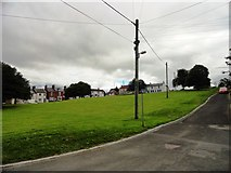 NZ3134 : Looking south over the green, Cornforth by Robert Graham