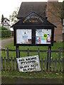 TM0944 : Burstall Village Notice Board by Geographer