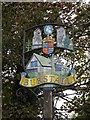TM0944 : Burstall Village sign by Adrian Cable