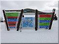 NJ0004 : Cairngorm Mountain ski area sign by Hugh Venables