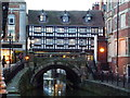 SK9771 : Lincoln - The High Bridge, The Glory Hole and Stokes Cafe by Richard Humphrey