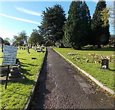 ST2896 : Path to Holy Trinity Church, Pontnewydd, Cwmbran by Jaggery
