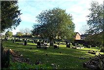 ST2896 : Holy Trinity churchyard, Pontnewydd,Cwmbran by Jaggery