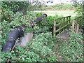 TM0836 : Footbridge And Pipe by Keith Evans