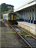 SW8132 : Falmouth Docks Station - train approaching by Chris Allen