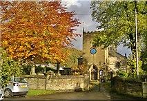 SK2375 : St Martin's church, Stoney Middleton by Chris Morgan