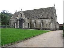 ST5038 : Abbey barn at Glastonbury by M J Richardson