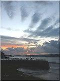 SD4578 : November sunset, Arnside pier (2) by Karl and Ali