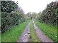 SJ4249 : Lane at Lane End, Shocklach by Jeff Buck