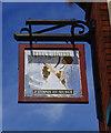 SP0464 : Fleece Hotel (2) - sign, 524 Evesham Road, Crabbs Cross, Redditch by P L Chadwick
