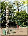 SP0485 : Play area and totem pole in Birmingham Botanical Gardens by Roger  Kidd