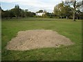 SP1391 : Bare patch in the grass, Pype Hayes Park by Robin Stott